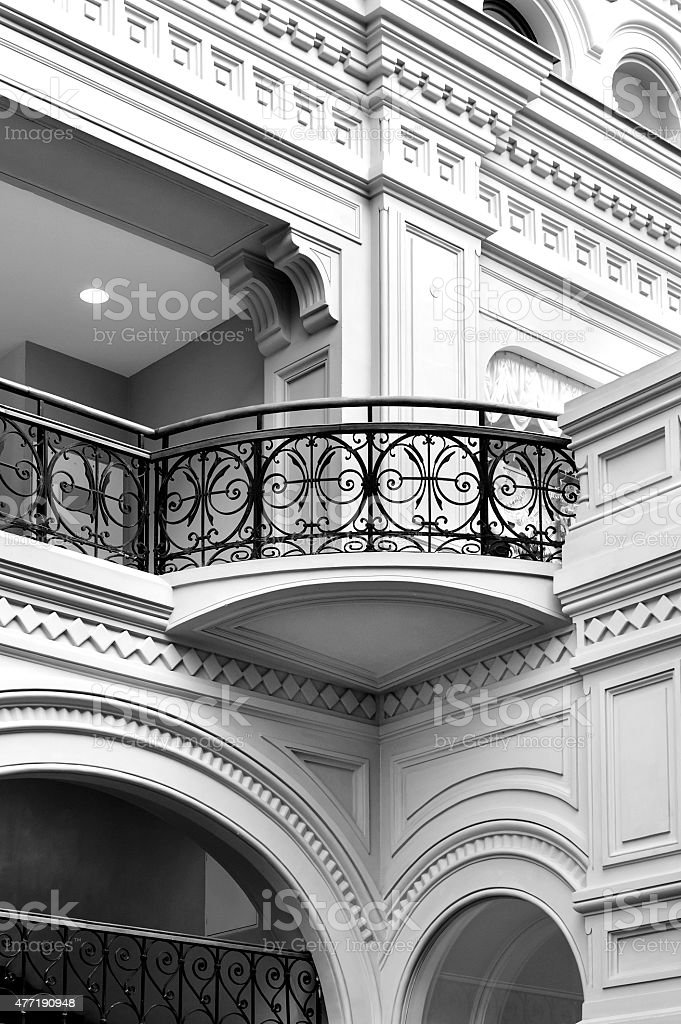 Classical balcony stock photo