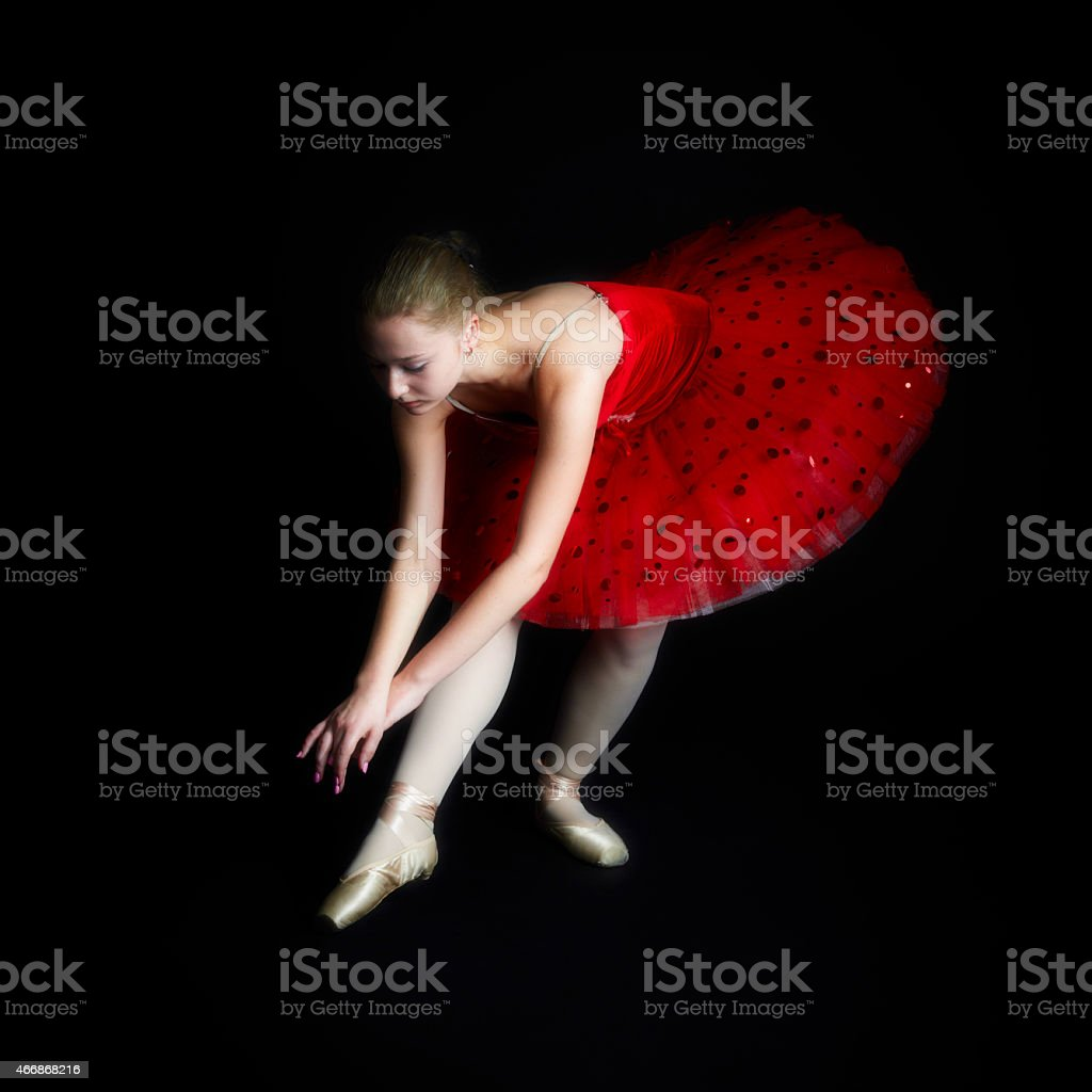 Classical Ballerina on point stock photo