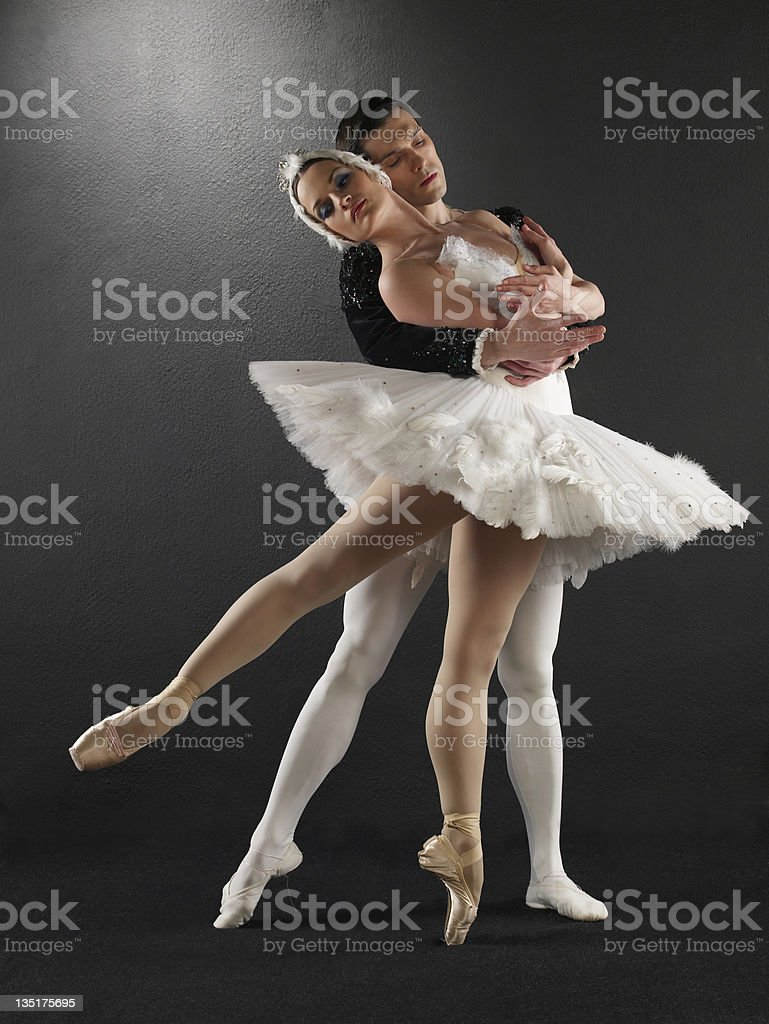 Classical ballet dancers royalty-free stock photo