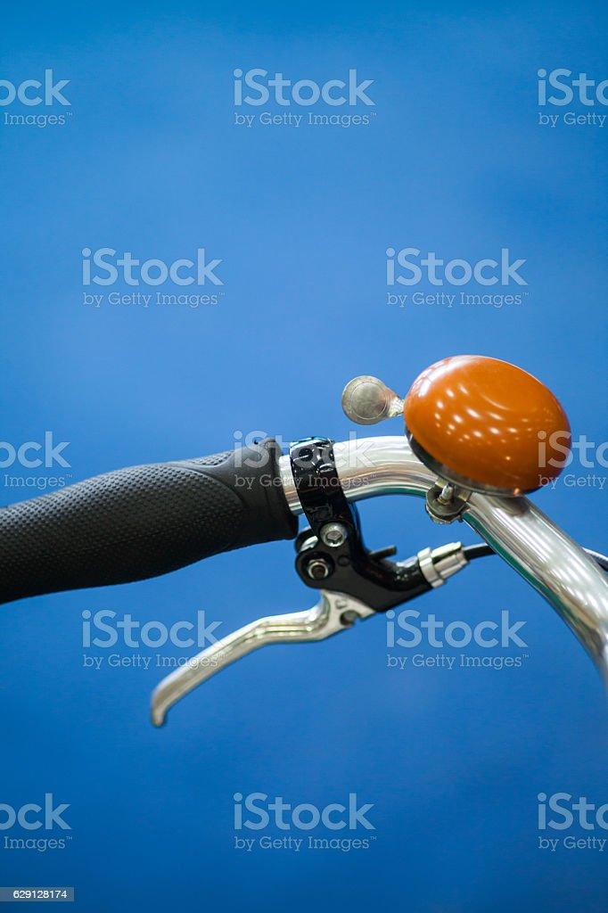 Classical bike ringer stock photo