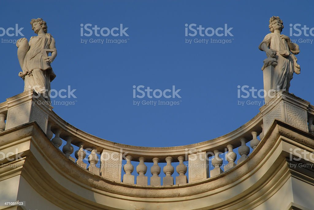 Classical building detail stock photo