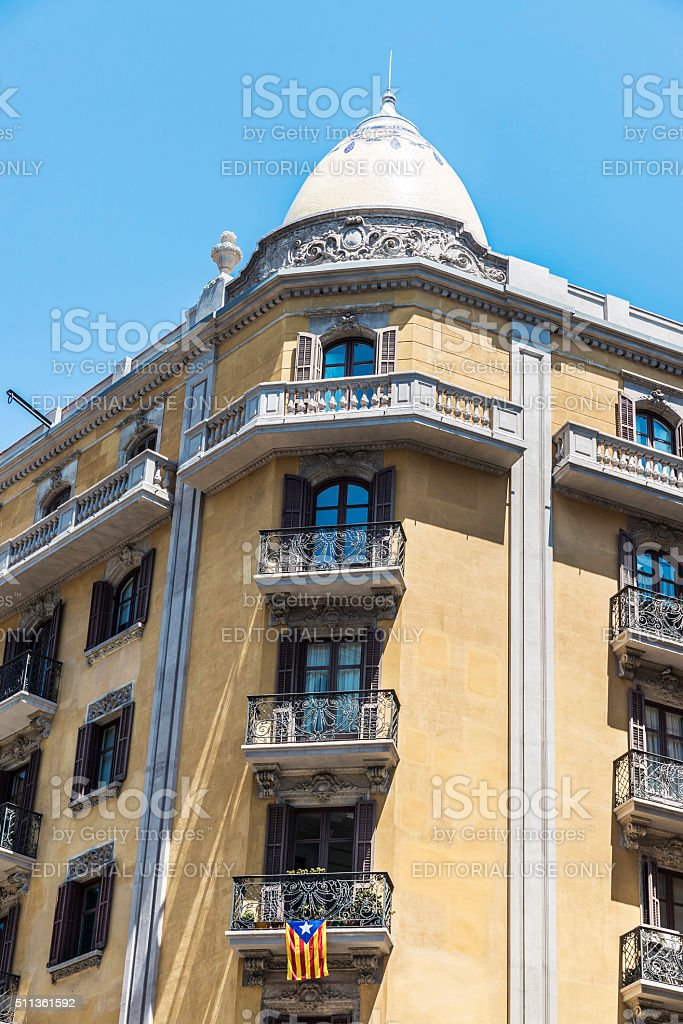 Classical building in Barcelona stock photo