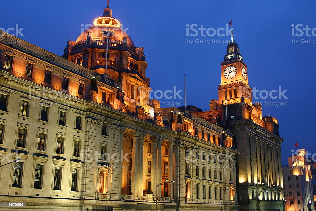 Classical buildings - The Bund Shanghai China stock photo