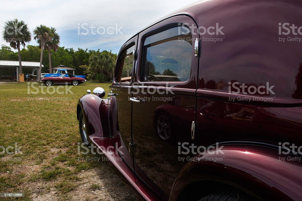 Classical car stock photo