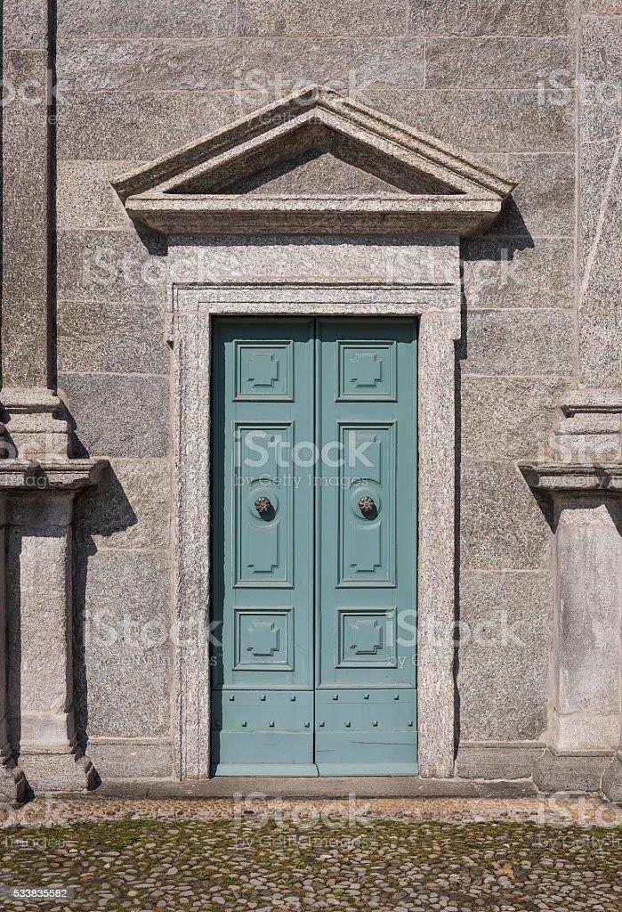 Classical Church Door stock photo