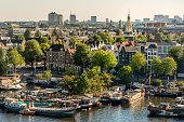 Classical city scenic from Amsterdam in the Netherlands