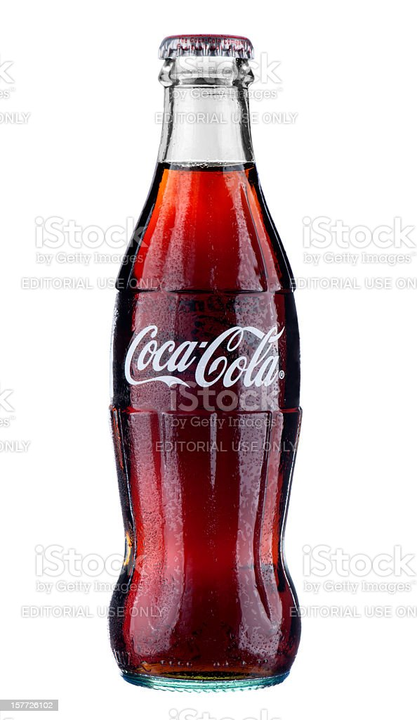 Classical Coca-Cola bottle stock photo