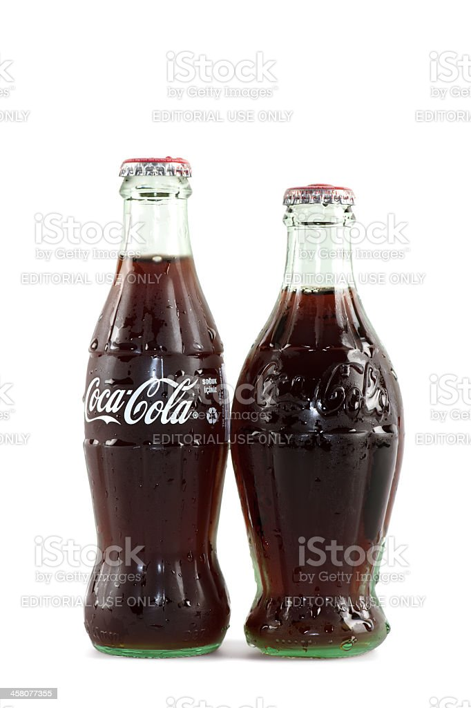 Classical Coca-Cola bottles royalty-free stock photo