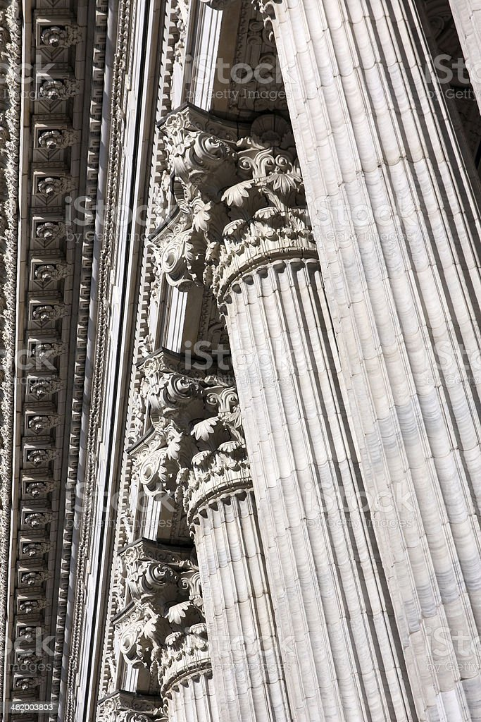 Classical Colonnade Detail royalty-free stock photo