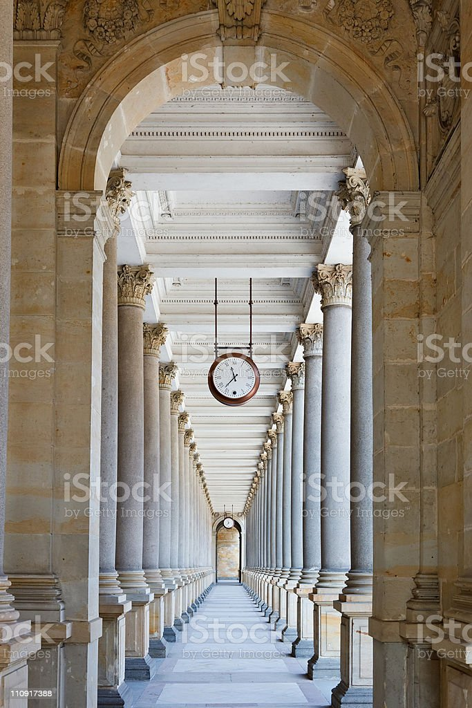 Classical colonnade royalty-free stock photo