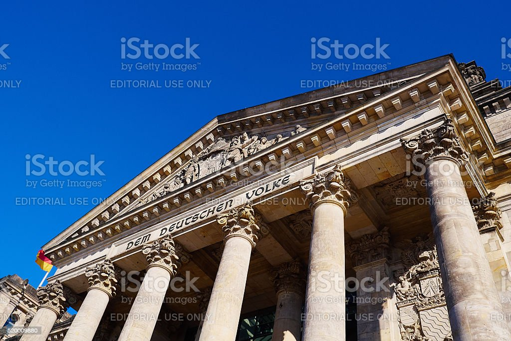 Classical colonnade stock photo