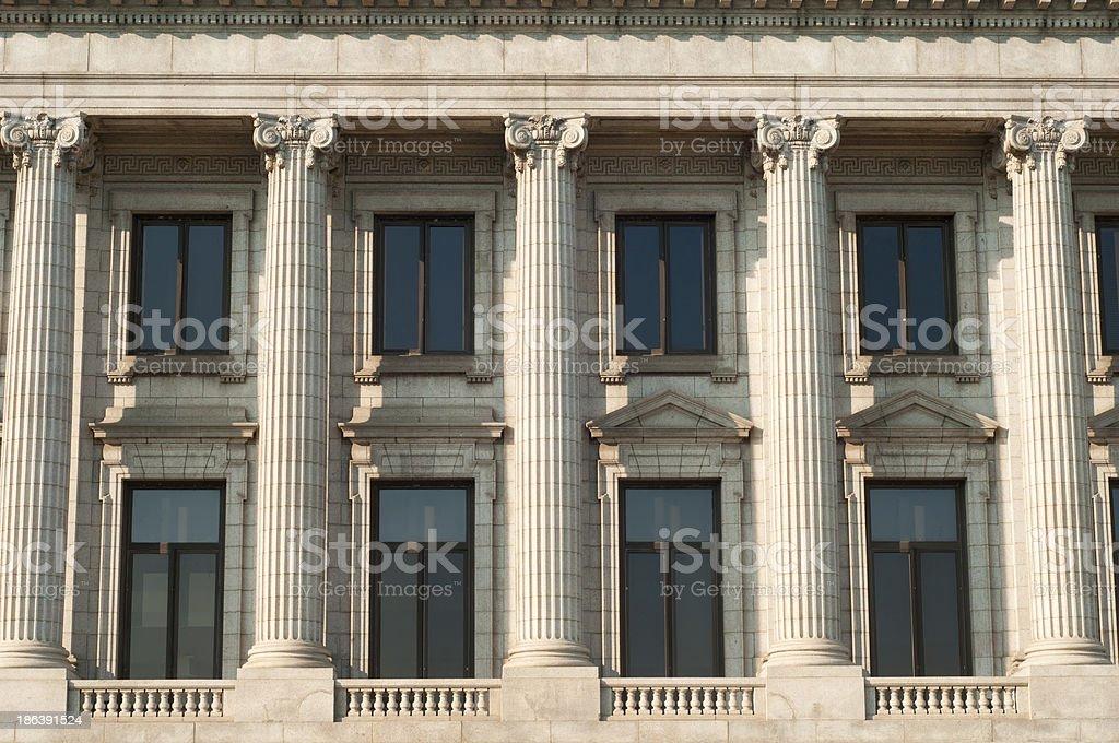 Classical columns stock photo