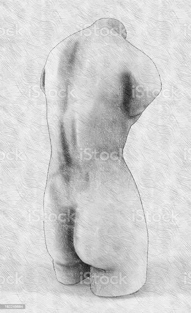 Classical draw. Imitation of hand drawing royalty-free stock photo