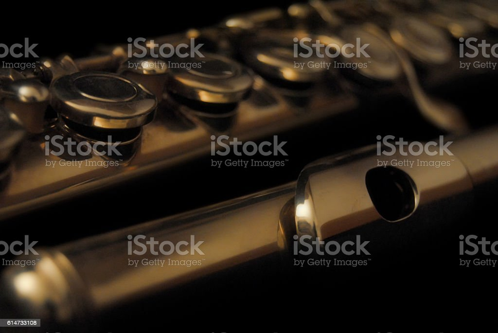 classical flute stock photo