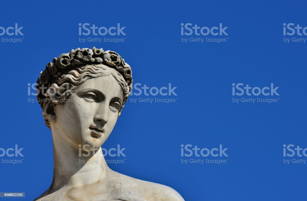 Classical goddess statue stock photo
