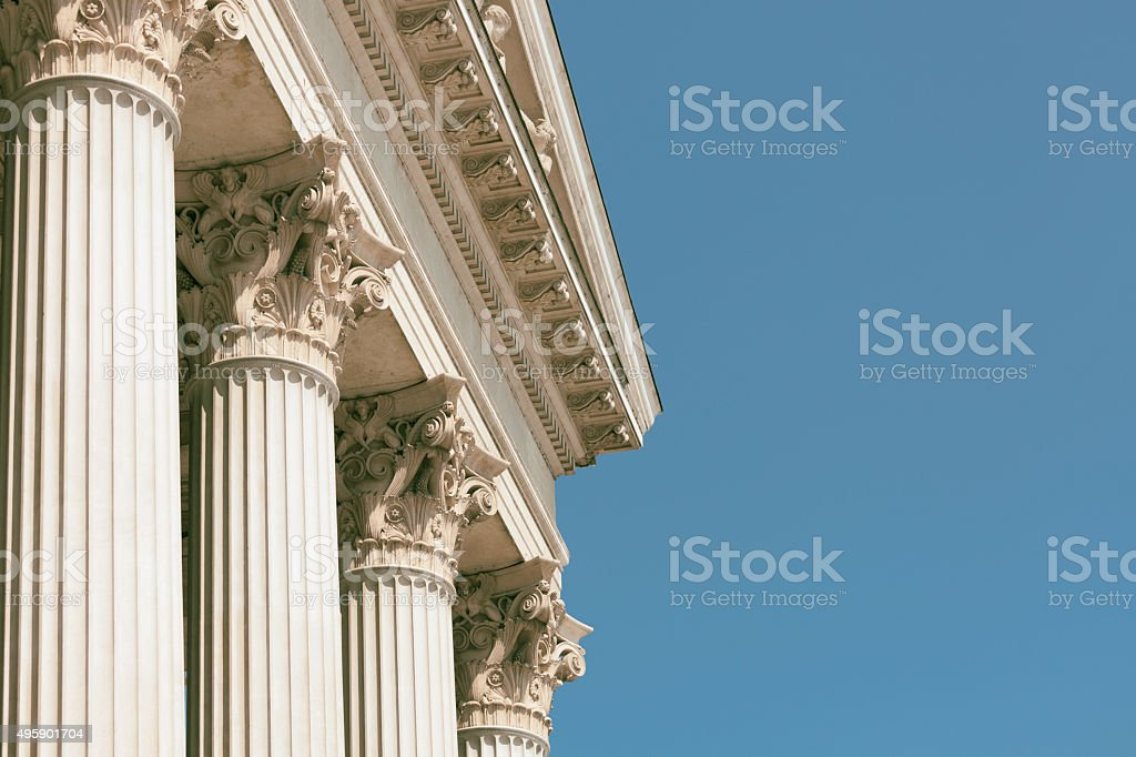 Classical greek architecture stock photo