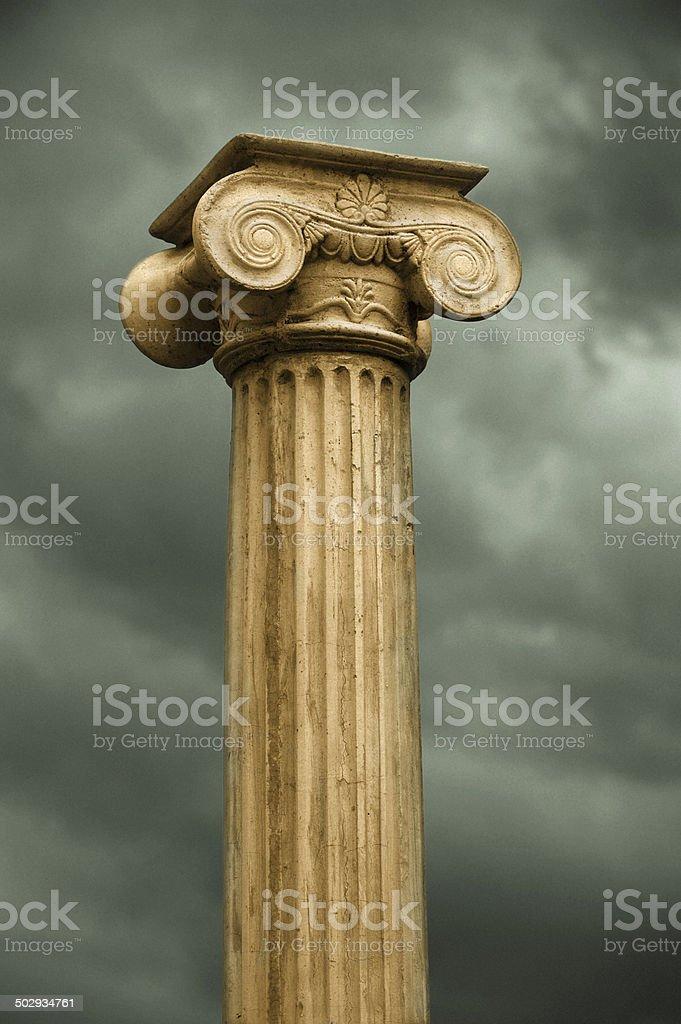 Classical Greek Column royalty-free stock photo