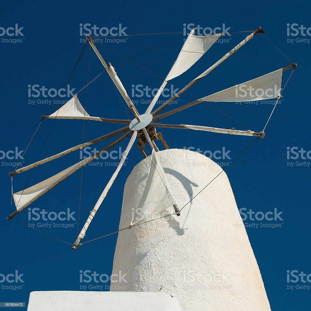 Classical Greek Windmill stock photo