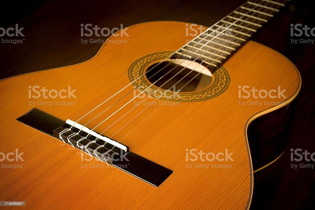 Classical Guitar Abstract stock photo