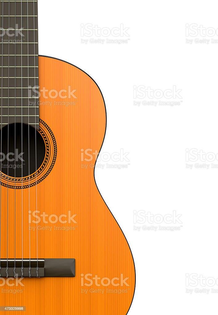 Classical Guitar Body Closeup stock photo