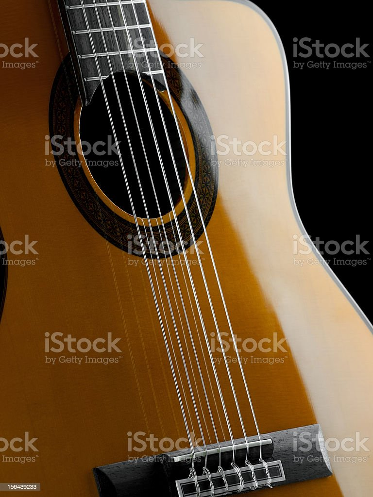 Classical guitar closeup royalty-free stock photo