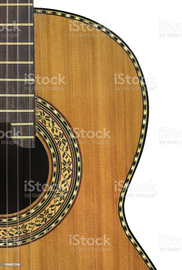 Classical Guitar on White stock photo