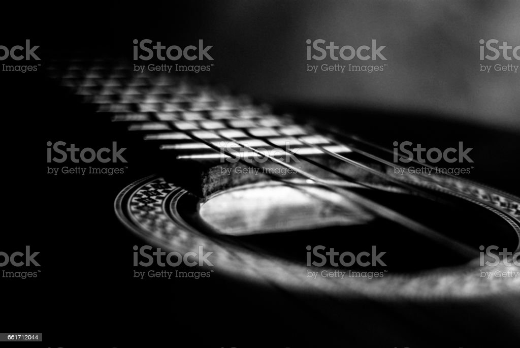 Classical guitar stock photo