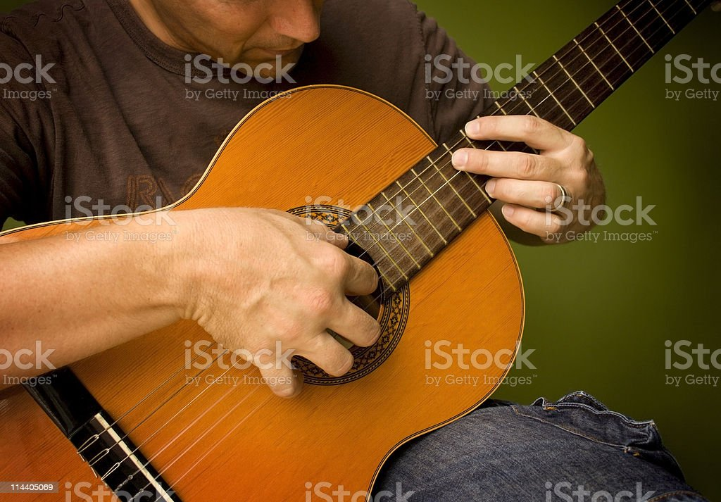 Classical Guitar Player 2 stock photo