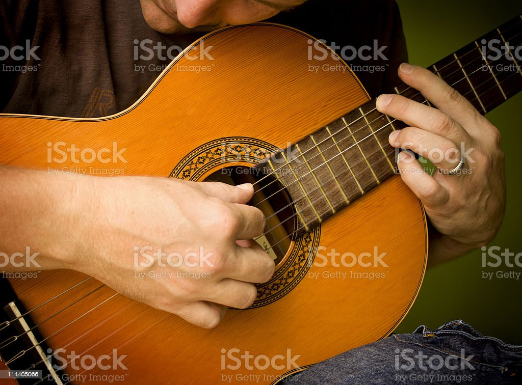 Classical Guitar Player royalty-free stock photo