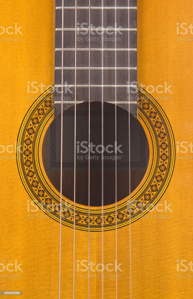 Classical Guitar Sound Hole stock photo