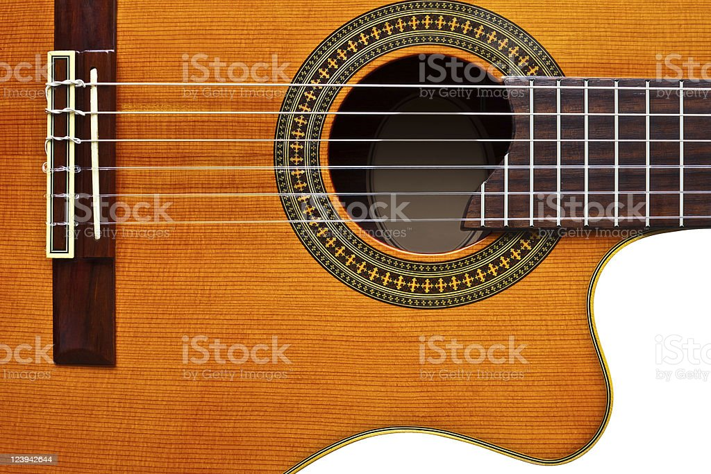 classical guitar/isolated stock photo