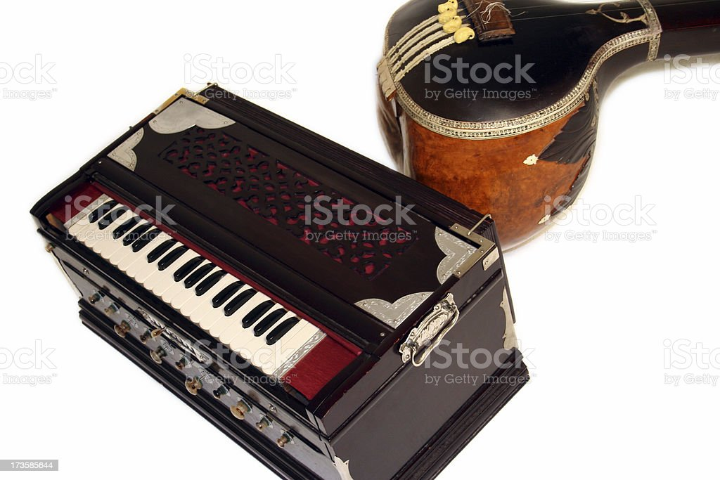 Classical Indian Instruments stock photo