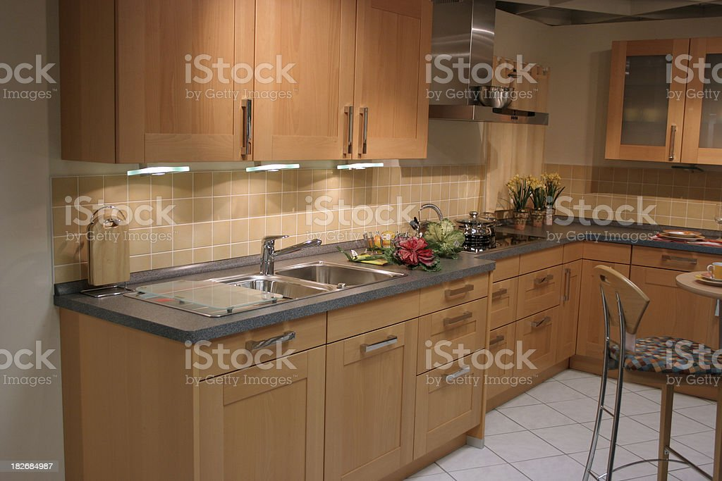 Classical kitchen interior royalty-free stock photo