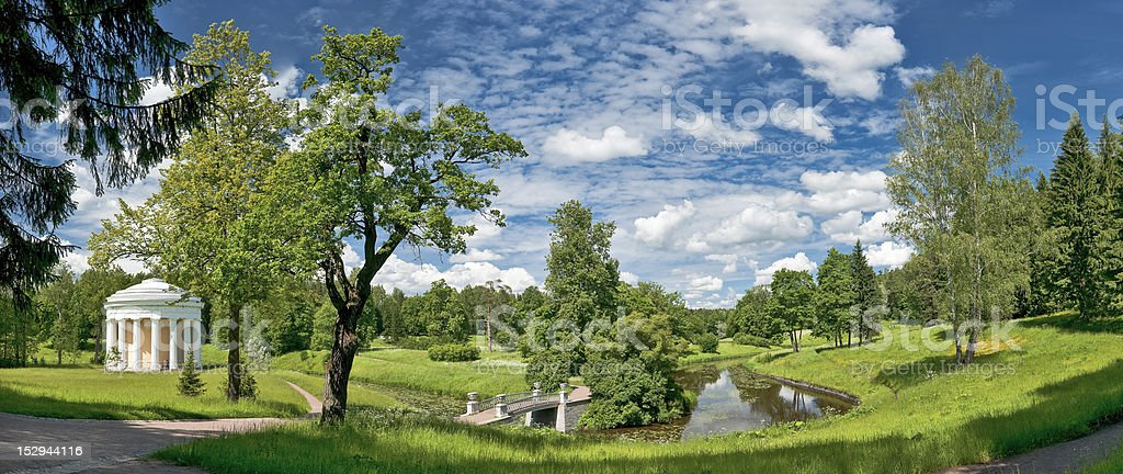 Classical landscape in summer royalty-free stock photo