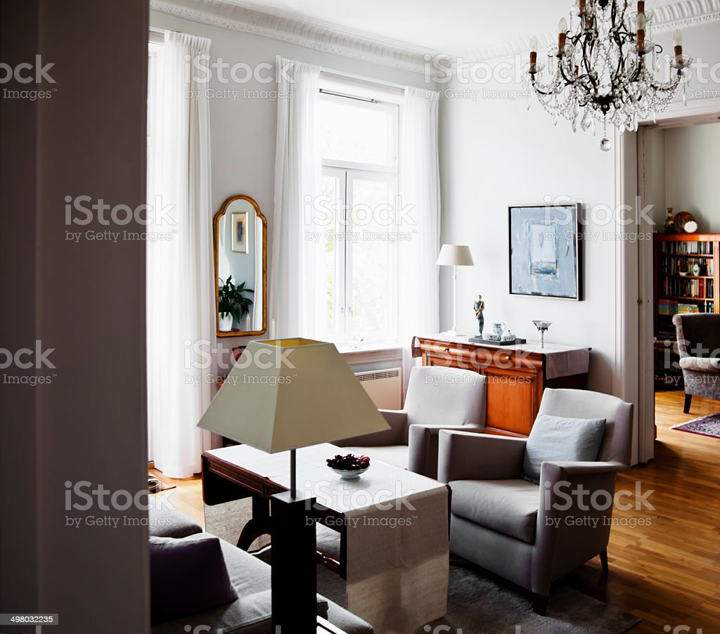 Classical living room. stock photo
