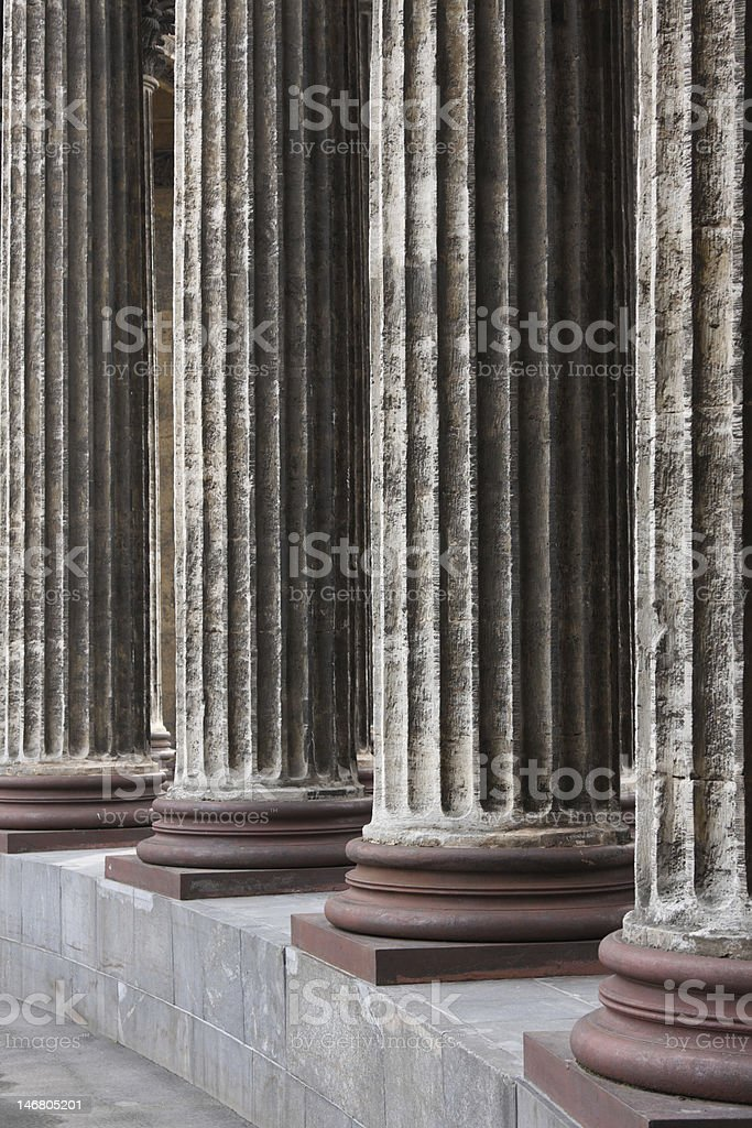 Classical marble columns royalty-free stock photo