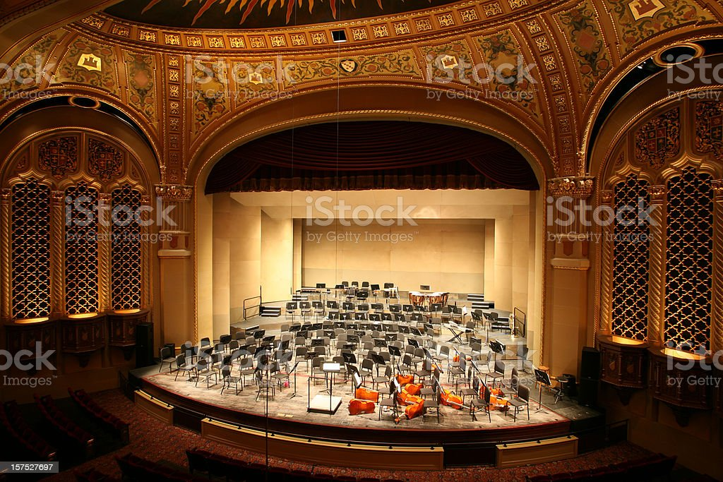 Classical Music Concert Hall stock photo