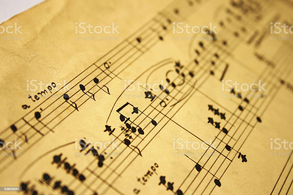 classical music notes stock photo