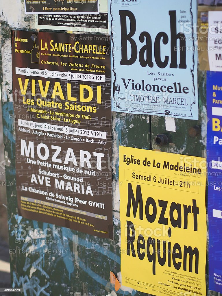 Classical Music Posters stock photo