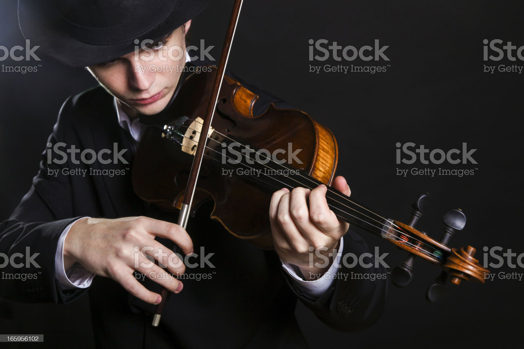 Classical musician royalty-free stock photo