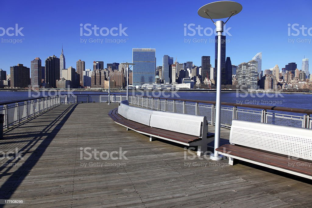 classical NY - long island, view to Manhattan stock photo