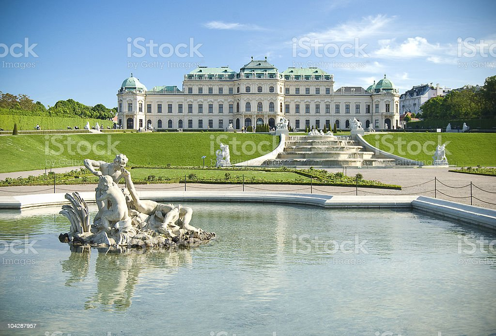 Classical palace building stock photo