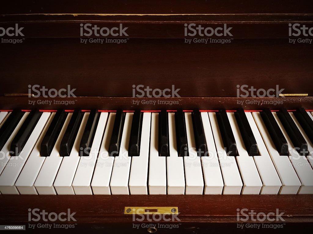 Classical piano keys stock photo
