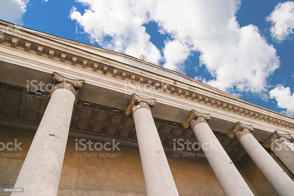 classical pillar, Greek architecture stock photo