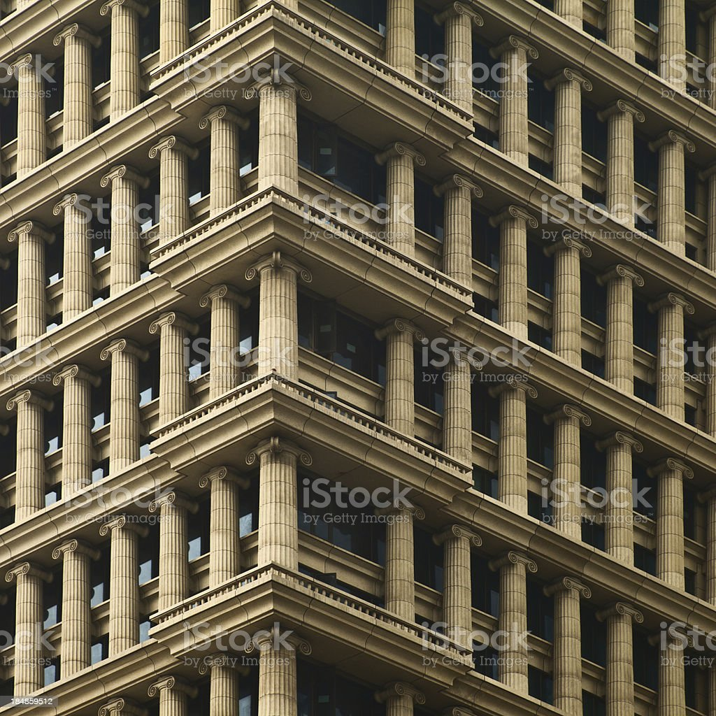 Classical pillars of building royalty-free stock photo