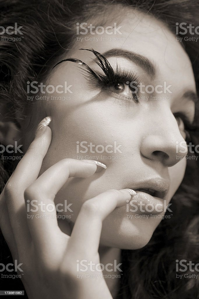 Classical portrait in black and white royalty-free stock photo