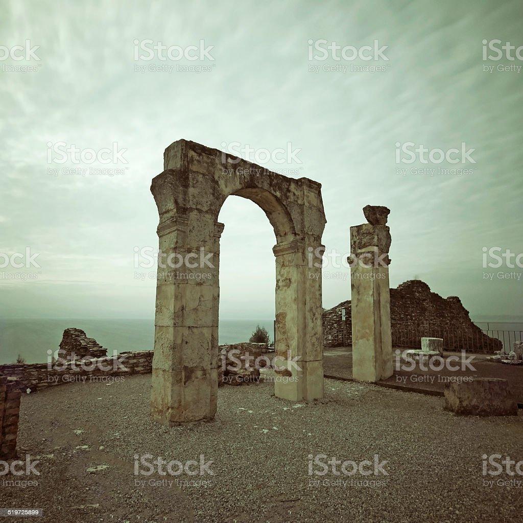 Classical ruins long exposure stock photo