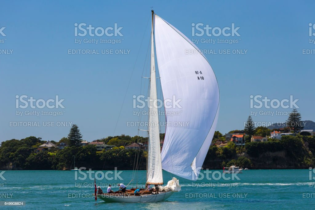 Classical Sailing Race stock photo