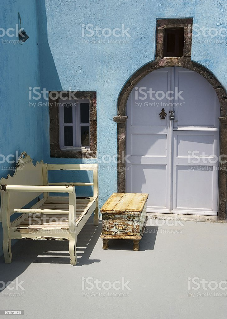 Classical scenery from Santorini, Greece royalty-free stock photo