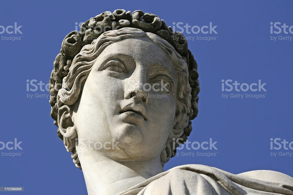 Classical sculpture of a women, Rome Italy stock photo